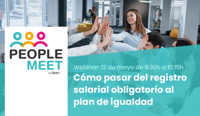 """Apuntate al Webinar """"Cómo pasar del registro salarial obligatorio al plan de igualdad"""""""