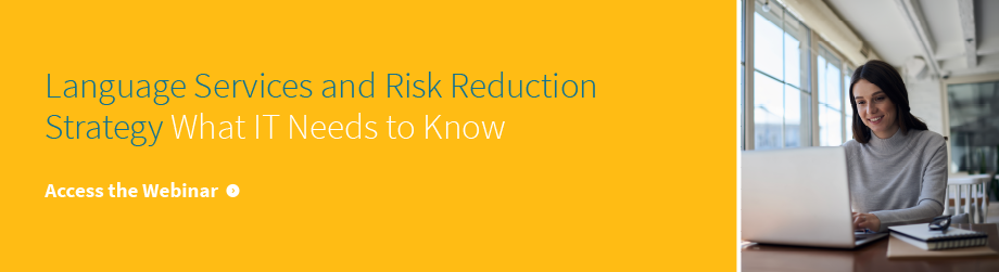 webinar - language services and risk reduction strategy