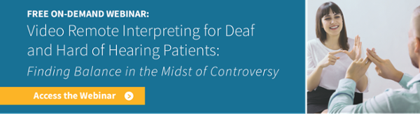 Video Remote Intepreting for Deaf and Hard of Hearing Patients
