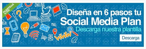 """Descarga la plantilla """"Diseña en 6 pasos tu Social Media Plan"""""""