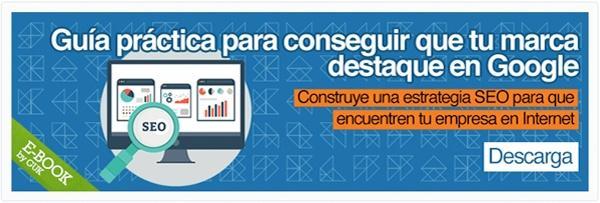 """E-book sobre SEO """"Guía práctica para conseguir que tu marca destaque en Google"""""""