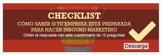 """Checklist """"Cómo saber si tu empresa está preparada para hacer Inbound Marketing"""""""