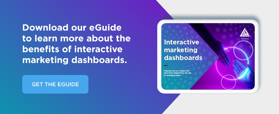 Download our eGuide to learn more about the benefits of interactive marketing dashboards