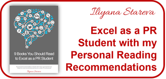 CTA Excel as PR student with my book recommendations