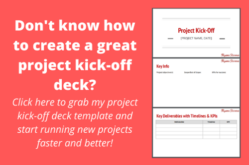 project kick-off deck template