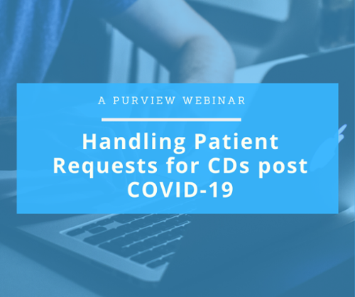 handling patient requests for CDs post COVID-19