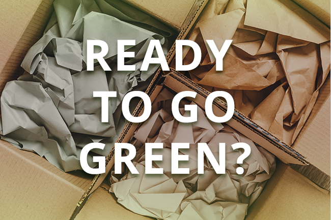 Go green with your packaging with Red Stag Fulfillment.