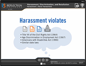 Learn About Preventing Harassment Module
