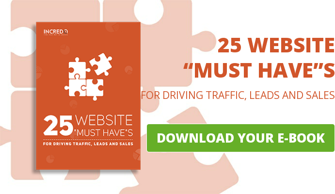 "25 WEBSITE ""MUST HAVE""S FOR DRIVING TRAFFIC, LEADS AND SALES   DOWNLOAD YOUR E-BOOK"