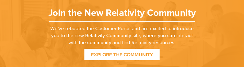 Join the New Relativity Community