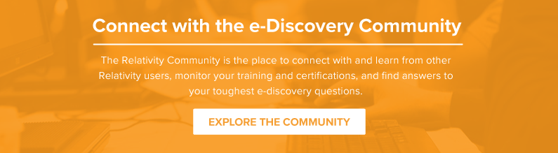 Connect with the Relativity Community