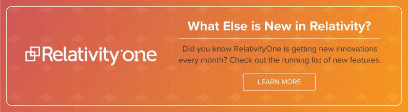 See What's New in Relativity