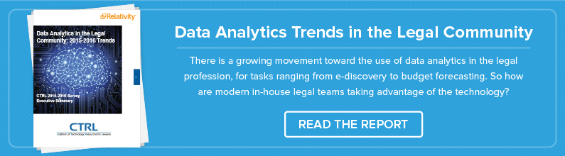 Investigate Data Analytics Trends Among Corporate Legal Teams