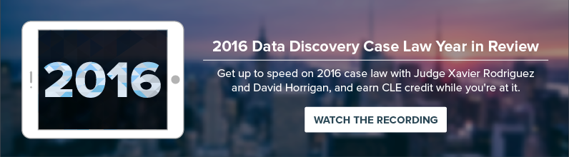Dig Deeper into 2016 Data Discovery Case Law