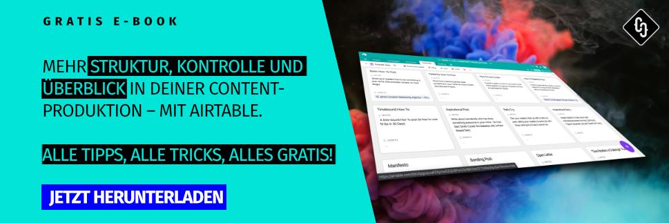 [Gratis Ebook]: Content-Produktion mit Airtable