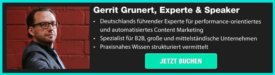 Content Marketing Speaker Gerrit Grunert – jetzt buchen!