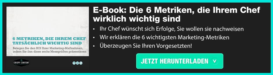 E-Book: Die 6 Metriken, die Ihrem Chef wirklich wichtig sind