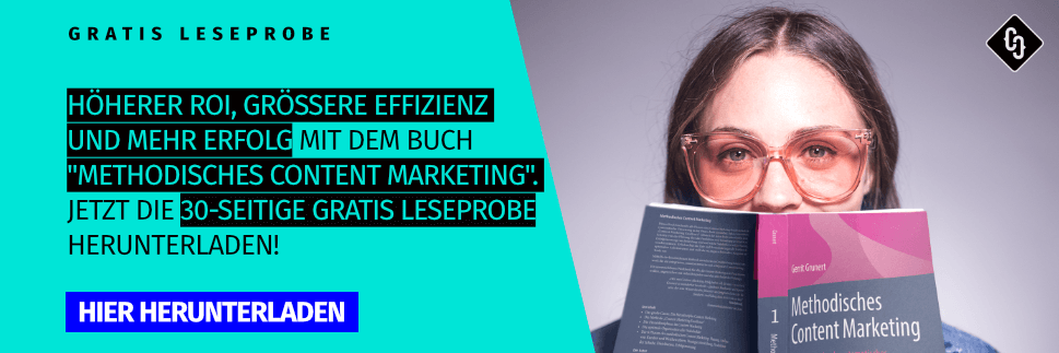 """Leseprobe Buch """"Methodisches Content Marketing"""" von Crispy Content"""