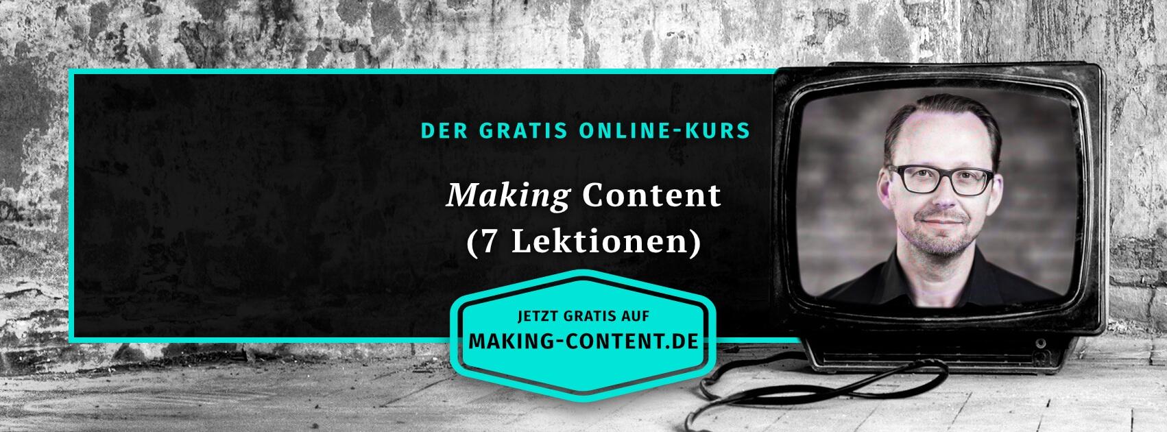 Online-Kurs Making Content von Crispy Content