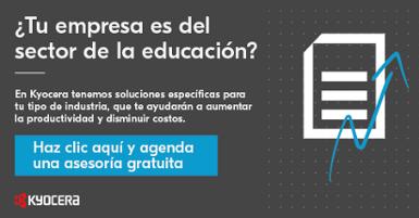 CTA Kyocera Asesoría Gratuita Industria Educativa