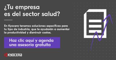 CTA Kyocera Asesoría Gratuita Sector Salud