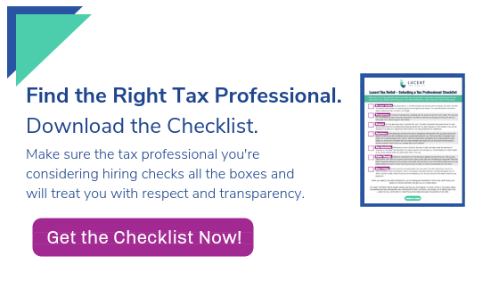 Select a Tax Professional Using this Checklist