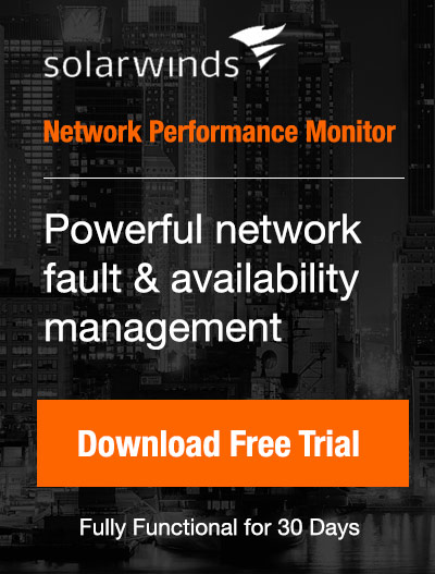 Free Download: Solarwinds Network Performance Monitor