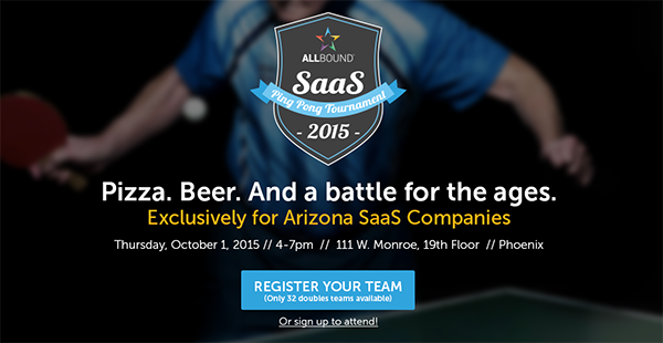 Allbound SaaS Ping Pong Tournament