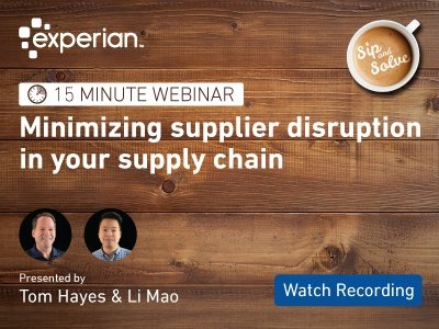 Attend our upcoming Sip and Solve to learn how to minimize disruption in your supply chain