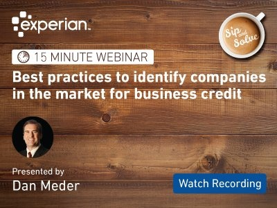 Attend our upcoming Sip and Solve webinar on companies in the market for business credit