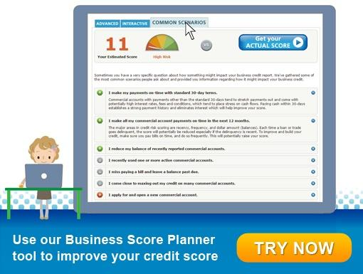 Improve your business credit score with Business Score Planner