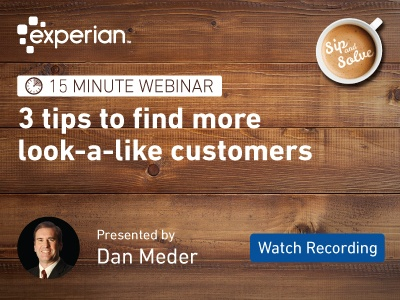 Watch our Sip and Solve recording to find more look-a-like customers