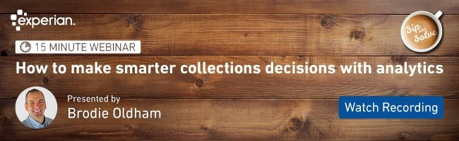 Attend our upcoming Sip and Solve to make smarter collections decisions with analytics