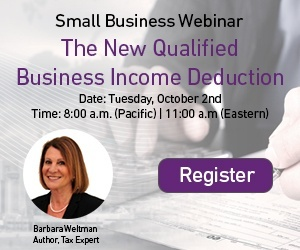 Register to attend the Qualified Business Income Deduction webinar