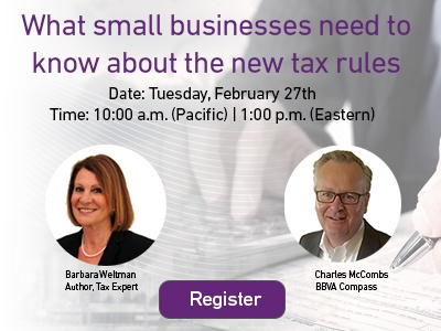 Webinar: What small businesses need to know about the new tax rules