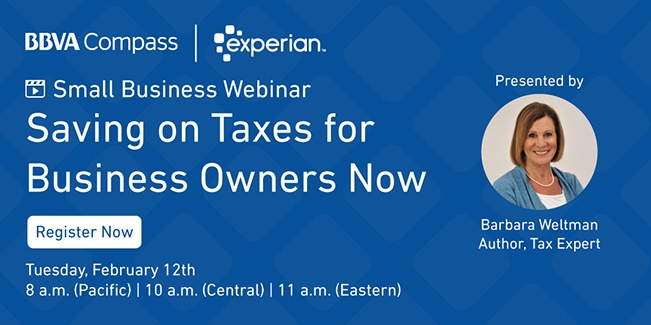 Register to attend the Saving on Taxes webinar with Barbara Weltman