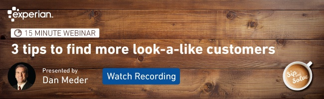 Watch our Sip and Solve webinar on finding look a like customers