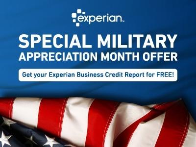 Veteran entrepreneurs get a free credit report for Military Appreciation Month