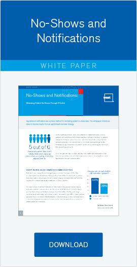Download free whitepaper: No-shows and Notifications