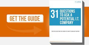 31 Questions to ask a potential IT company guide cta