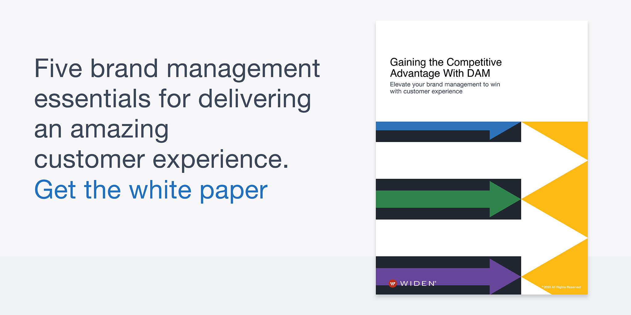 Gaining the Competitive Advantage With DAM white paper cover.