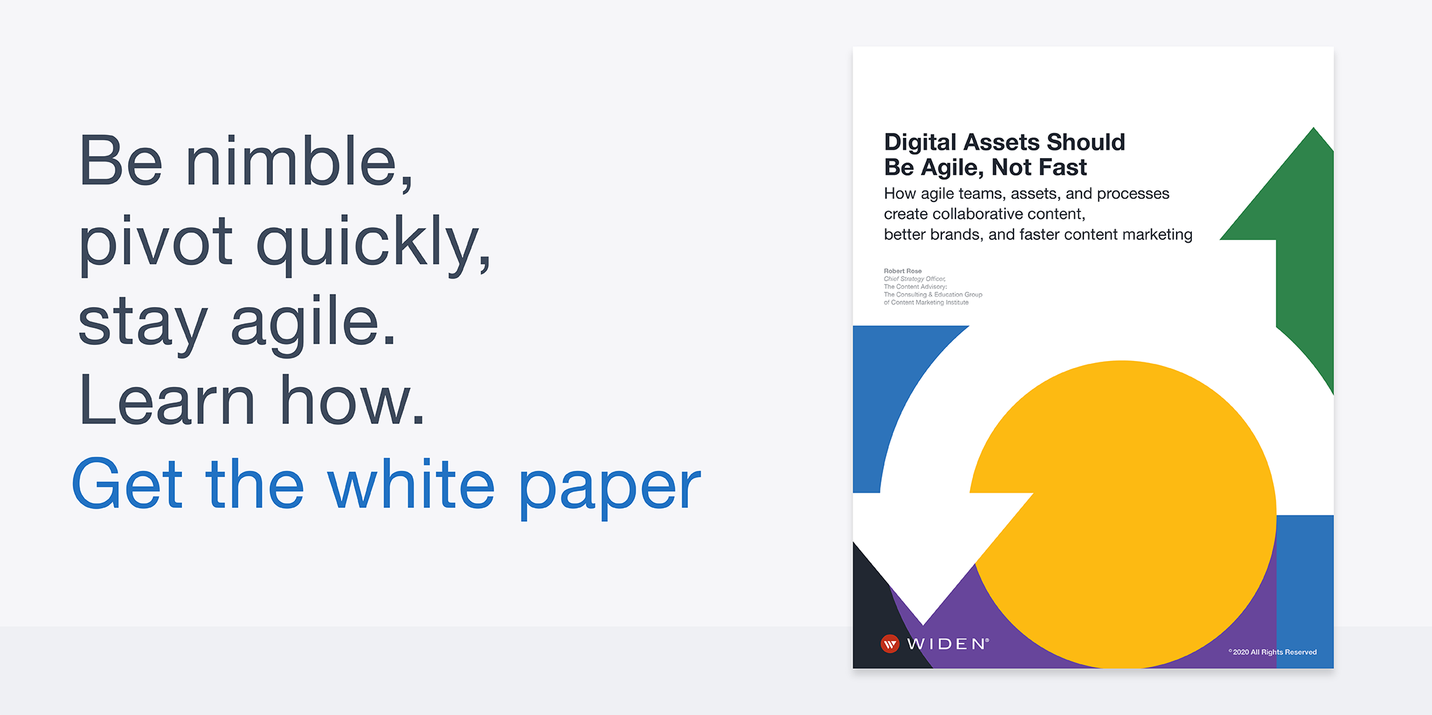 Header banner with Digital Assets Should Be Agile, Not Fast white paper cover preview.