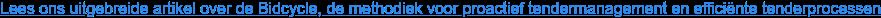 Lees ons uitgebreide artikel over de Bidcycle, de methodiek voor proactief  tendermanagement en efficiënte tenderprocessen