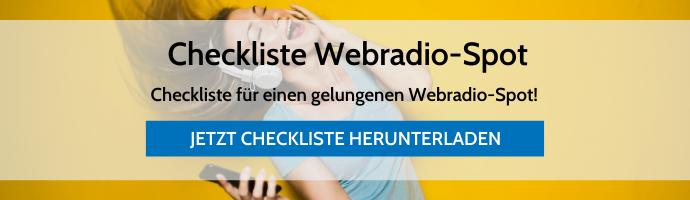 Checkliste Webradio-Spot