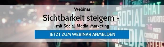 Webinar Sichtbarkeit steigern mit Social-Media-Marketing