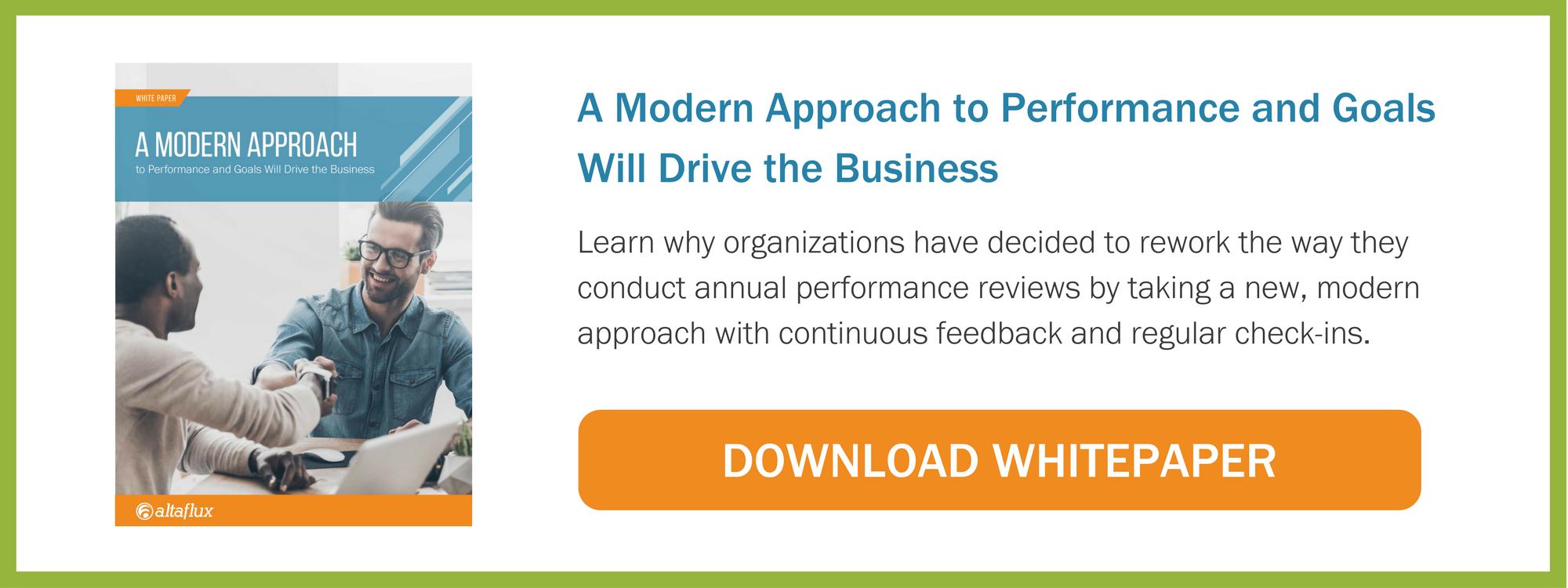 A Modern Approach to Performance Management