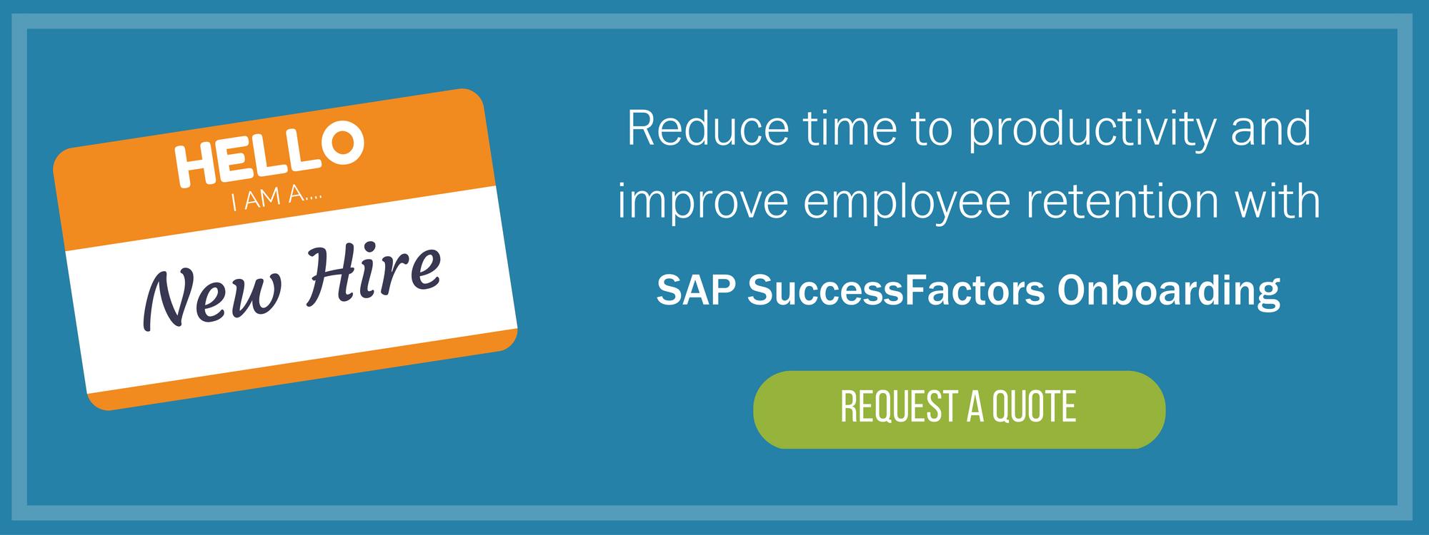 SAP SuccessFactors Onboarding Quote