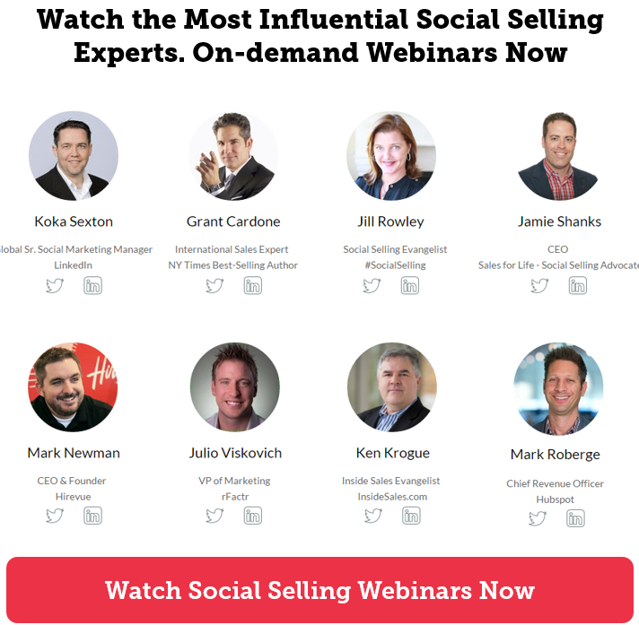 Watch social selling experts. On demand webinars. Free