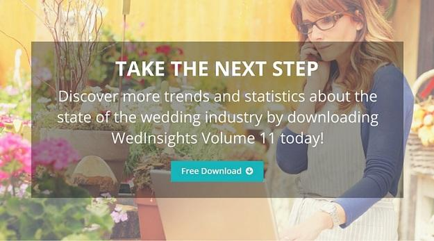 Discover more trends and statistics about the state of the wedding industry by downloading WedInsights Volume 11 today!