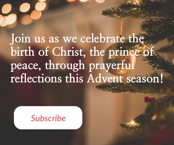 Sign up for daily Advent messages of peace